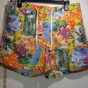 BODY GLOVE MEN'S SZ LARGE SWIM TRUNKS W ZIPPER